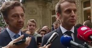 Emmanuel Macron et Stéphane Bern lors des journées du patrimoine