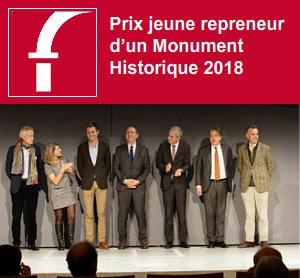 Dominique de la Fouchardière Prix jeune repreneur d'un Monument Historique 2018
