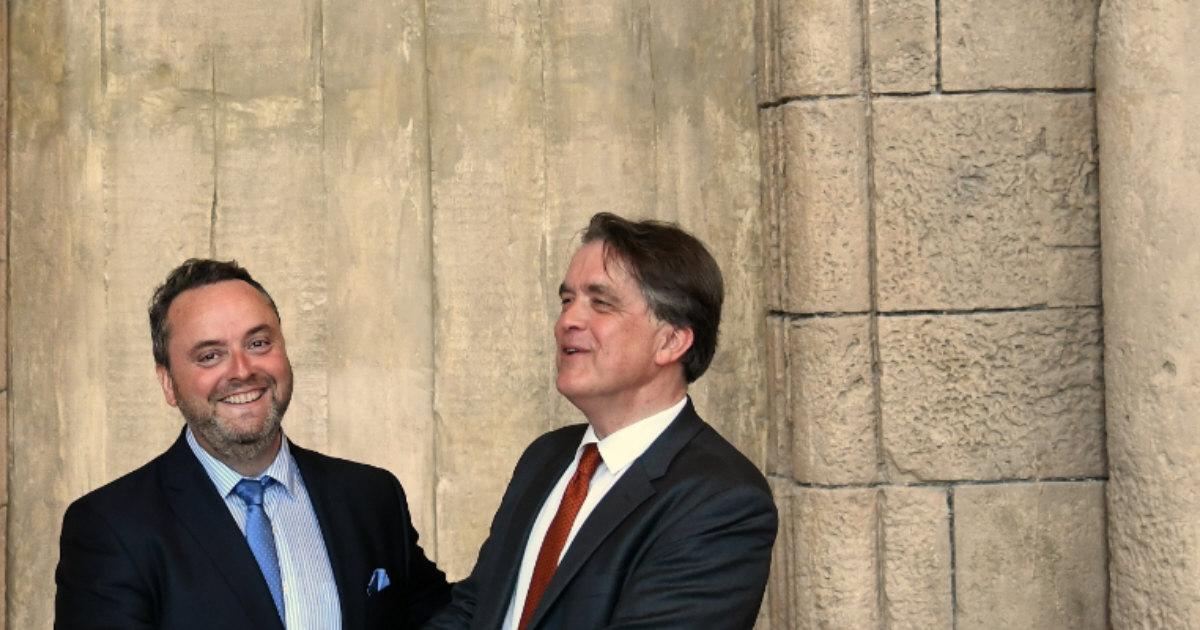 Olivier de Lorgeril président de la Demeure Historique et Jean de Lambertye
